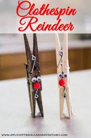 clothespin reindeer crafts craft