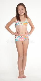 preteen girl modeling preteen girl in swim suit bikini stock image image of beach hips