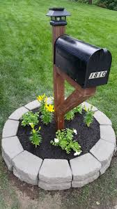 Outdoor Solar Lamp Post by 4x4 Stained Post Mailbox Solar Light Post Topper Retaining Wall