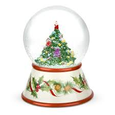 spode tree 2010 musical snow globe
