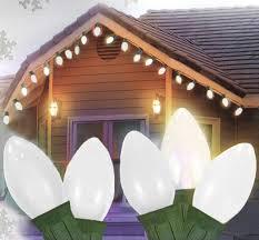 25 ceramic style opaque white led retro style c7 lights