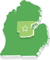 The Great Lakes Map Great Lakes Bay U2013 Michigan