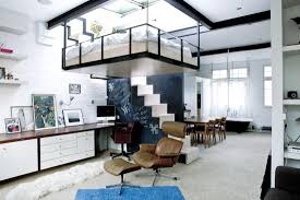 modern bohemian studio flat with suspended bed idesignarch