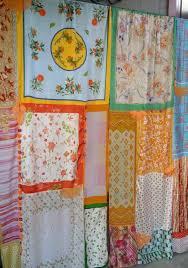 Hippie Curtains Drapes by Hippy Hippie Boho Gypsy Bohemian Shabby Chic Vtg Orange Floral