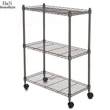 Wire Shelf Cart Compare Prices On Rolling Metal Cart Online Shopping Buy Low