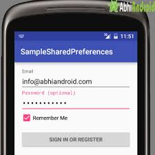 android sharedpreferences exle shared preference tutorial with exle in android studio