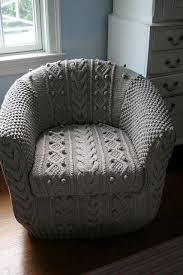 covers for armchairs and sofas look knitted armchair slipcover cozy house and crochet