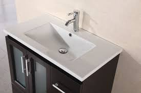 Drop In Sink Bathroom Adorna 32 Inch Single Drop In Sink Bathroom Vanity Dark Chestnut