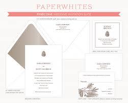 Wedding Invite Spreadsheet Pinecone Wedding Invitations Paperwhites Wedding Invitations