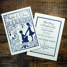 Wedding Invitation Rsvp Cards Folk Love Wedding Invitation And Rsvp Card By Ditsy Chic