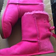 ugg bailey bow sale size 7 s pink ugg boots on poshmark