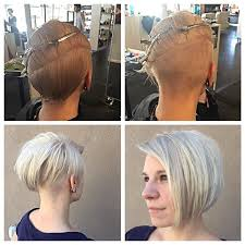 long hair at the front shaved at the back 50 adorable asymmetrical bob hairstyles 2018 hottest bob