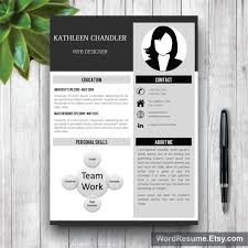 simple creative resumes 32 best cv resume templates in ms word images on pinterest