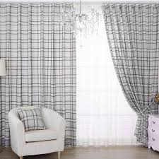 Grey Plaid Curtains Creative Of Grey Plaid Curtains Decor With Jacquard Light Gray
