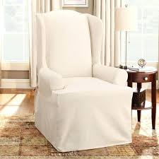 pottery barn chair and a half slipcover wingback chair slipcovers pottery barn historicthomaswv com