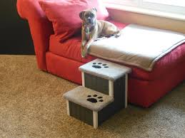 raised dog bed with stairs home decoration ideas
