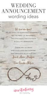 for your wedding best 25 wedding announcement wording ideas on