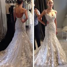 spaghetti wedding dress charming spaghetti straps mermaid wedding dress bridal gown with