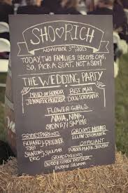chalkboard wedding program my country rustic wedding nutrition by shoshana