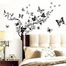 butterfly flower pattern diy home bedroom decal wall decor sticker