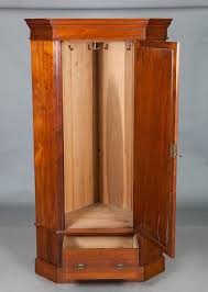 english mahogany antique corner wardrobe pertaining to corner