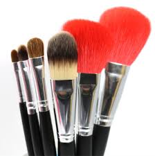 professional makeup brush set 6pcs soft nature goat hair makeup