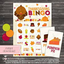 thanksgiving bingo cards printable thanksgiving