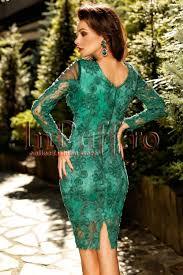inpuff rochii de ocazie midi verde din dantela si tul