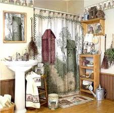details about rustic bear and moose shower curtain home lodge