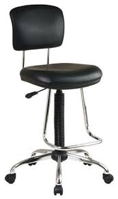 bar stool desk chair office star chrome finish drafting chair free shipping today