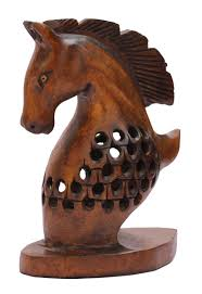 rich home decor bulk wholesale hand carved 5 decoration piece of horse bust in