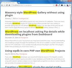 wordpress search layout highlight searched terms in wordpress search results perials