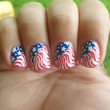 vintage flag 4th of july nails polish me please