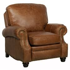Brown Leather Recliner Barcalounger Briarwood Ii Leather Recliner With Nailheads Hayneedle