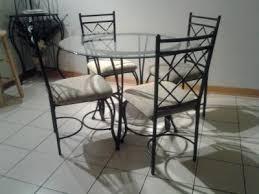 walmart dining room sets mainstays 5 glass top metal dining set walmart