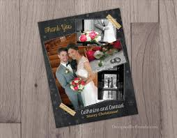wedding thank you christmas card combined card invitation templates