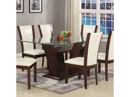 Glass Top For Dining Table Camelia White Rectangular Dining Table With Glass Top Belfort