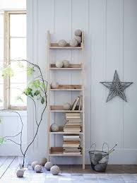 furniture white grey wooden ladder shelf with leaning ideas for