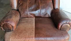 Worn Leather Sofa Using Leather Paint To Update Furniture Shoes And A Briefcase