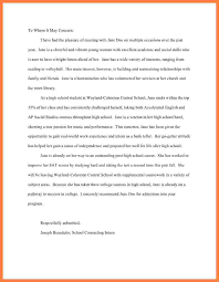 ideas of letter of recommendation for high scholarship