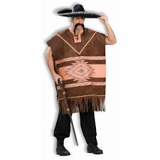 buy brown western poncho costume