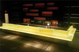 Yellow Reception Desk Yellow Orange Artifical Alabaster Club Bar Tops Reception Desk