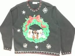 Ugly Christmas Sweater With Lights Lights The Ugly Sweater Store Vintage Ugly Christmas Sweaters