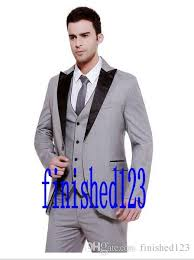 light gray suits for sale sale one button light grey groom tuxedos peak lapel groomsmen