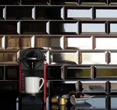 kitchen brick wall tiles zamp co kitchen brick wall tiles gloss black metro victorian style bevelled brick kitchen wall tiles 10 x