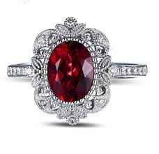 ruby diamond ring i am in just add pearls antique ruby engagement rings