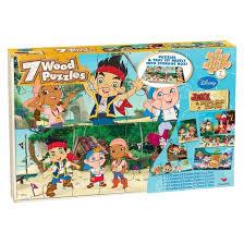 disney jake u0026 neverland pirates 7pk wood puzzle target
