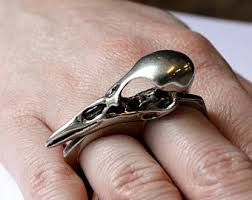 modern skeleton ring holder images Life size sterling silver chameleon lizard skull finger ring jpg