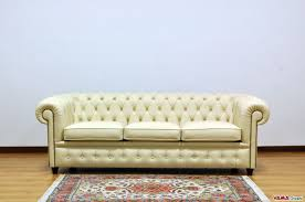 Vintage Leather Chesterfield Sofa by Chesterfield Sofa With Vintage Brass Plated Studs