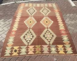 Rustic Rug Vintage Rugs Kilim Rugs Area Rugs Collectible Items By Pocovintage